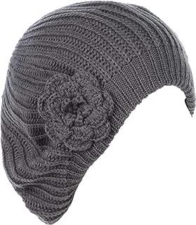 little girl crochet hat with flower pattern