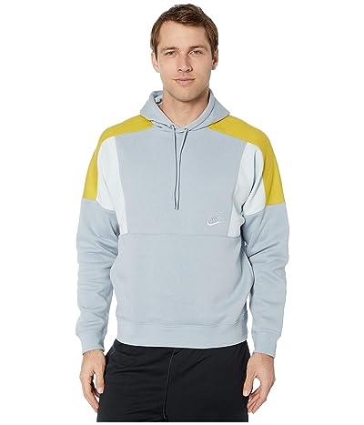 Nike NSW Hoodie Pullover Color Block (Obsidian Mist/Aura/Saffron Quartz/Aura) Men