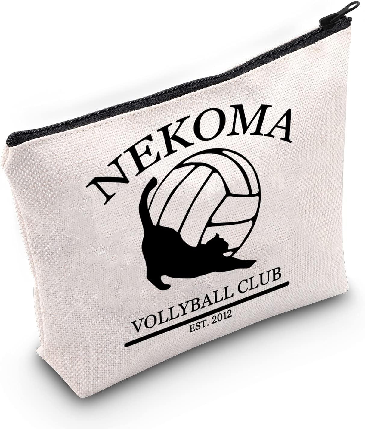 TOBGBE Haikyuu Gift Anime Lover Gift Karasuno Volleyball Club Makeup Bag Haikyuu Karasuno Gift Otaku Gift Battle At The Garbage Dump (Nekoma)