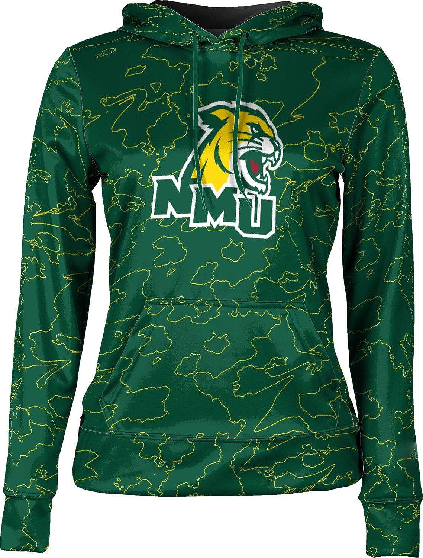 ProSphere Northern Michigan University Girls' Pullover Hoodie, School Spirit Sweatshirt (Topography)