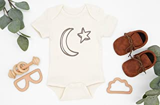 Moon Star Baby Bodysuit, Infant Romper, Organic Cotton, Unisex Baby Clothes, Newborn Baby Gift, One Piece Outfit, Coming Home Outfit