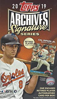2019 Topps Archives Signature Series RETIRED PLAYER EDITION Baseball (1 card)