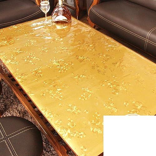 primera reputación de los clientes primero Estilo europeo Plástico Vidrio suave Mantel doraño Estera de de de tabla de agua Mantel Esteras mesa de té Paño de tabla de cristal-A 90x130cm(35x51inch)  tienda en linea