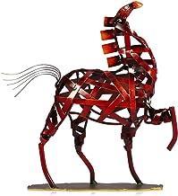 tooarts Metal Escultura Figura Estatua Figura decorativa manualidades decoración para el hogar sala de estar decoración oficina decoración