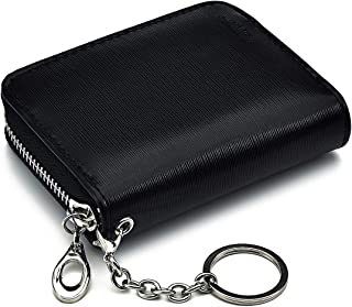 Credit Card Holder Case Wallet - RFID Blocking Compact Size Card Wallet Purse with Elastic Coin Pocket,ID window for Women...
