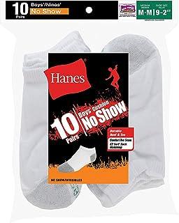 Hanes, Boys 'no-show calcetines de EZ tipo 10-PK