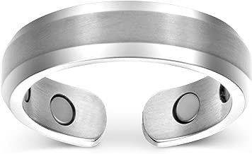 Smarter Lifestyle - Anillo terapéutico magnético de titanio, elegante, alivio del dolor provocado por la artritis y el túnel carpiano