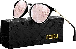 polarized sunglasses for women men - FEIDU retro womens sunglasses oversized style aviator sunglasses 4171
