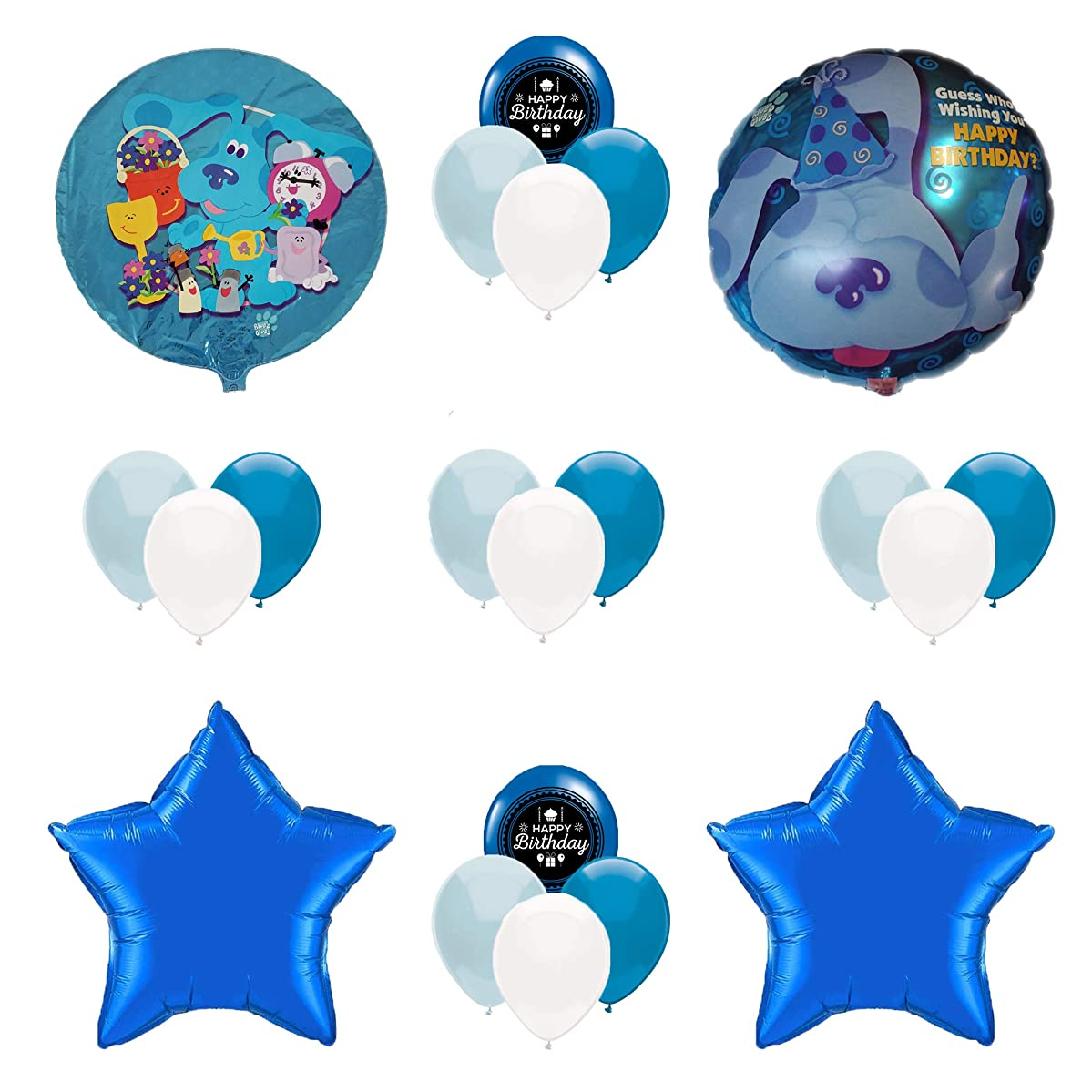 Combined Brands Blue's Clues Birthday Party Supplies Balloon Decoration Bundle