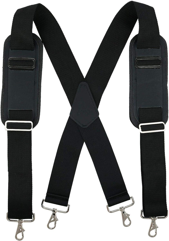 CTM Men's Big & Tall Padded Work Suspenders with Metal Swivel Hook End