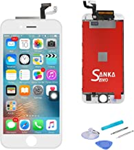SANKA iPhone 6S Plus LCD Screen Replacement White Digitizer Display,Retina 3D Touch Screen Glass Frame Assembly for iPhone 6S Plus 5.5 inch - White (Free Tools Included)