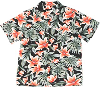UWBACK Big Boy's Hawaiian Shirt Aloha Tees Button Down Summer Dress Casual Tops