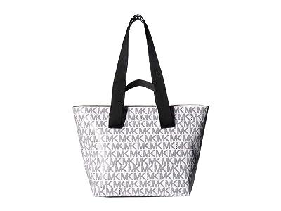 MICHAEL Michael Kors Kallie Medium Convertible Tote (Optic White) Handbags