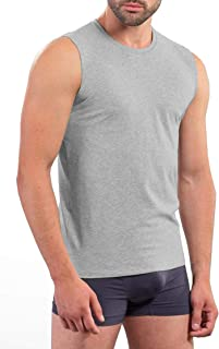 Hann Brooks 3 Pack Mens Cotton Plain Sleeveless T Shirt Tank Top Vest