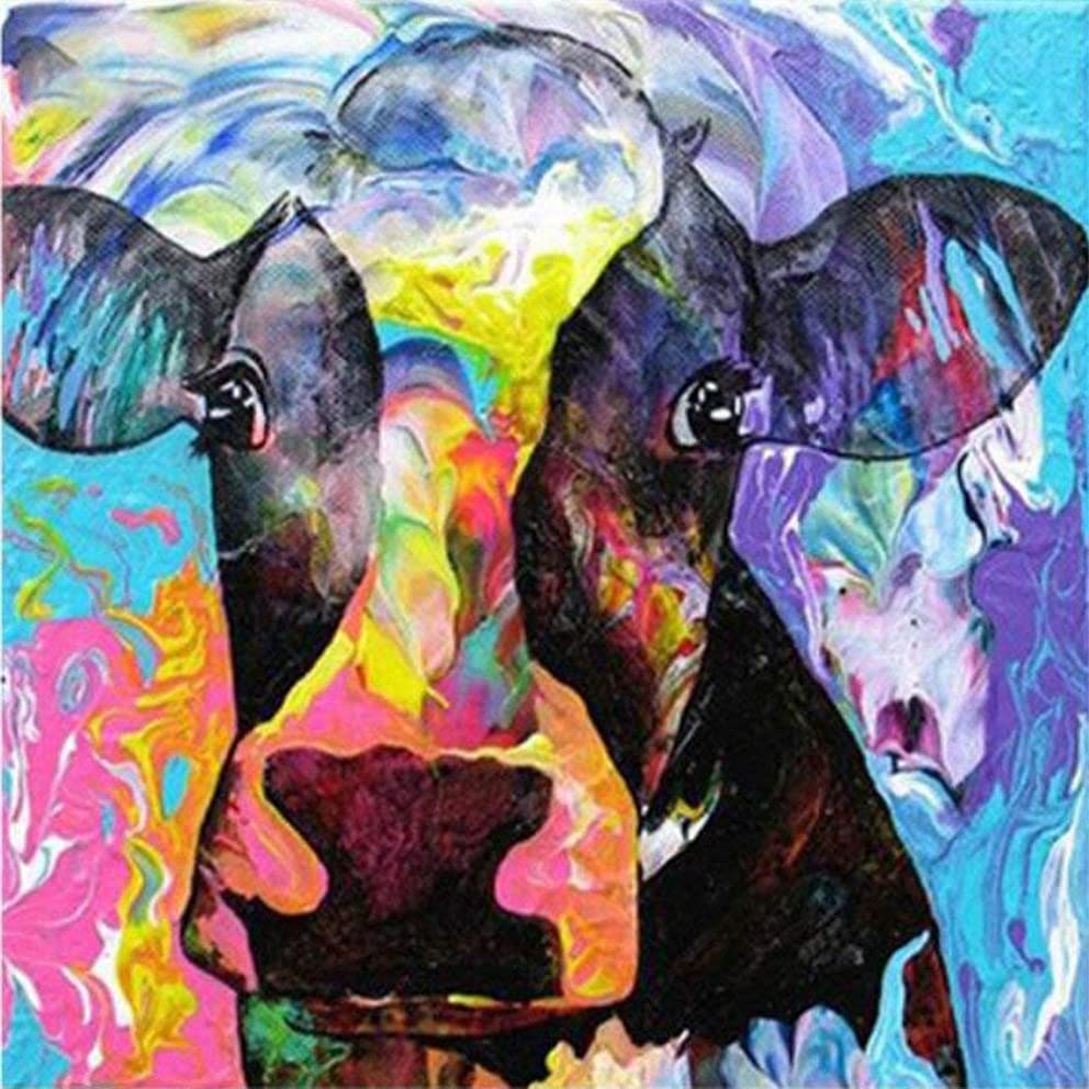 Cow Lovers-5D Diamond Painting Needlework Mosaic DIY Cross Stitch Kit Embroidery for Bedroom Decor Gifts