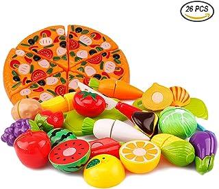 comprar comparacion Tocone Alimentos de Juguete Cortar Frutas Verduras Pizza Cocina Juguete Temprano Desarrollo Educación Juguete de Corte par...
