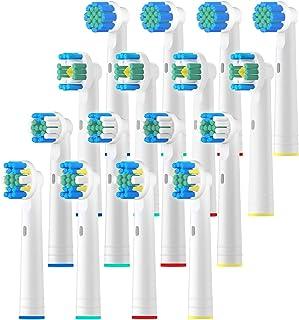 REDTRON Cabezal de Recambio para Oral-B Cepillo de Dientes Eléctrico Recargable, 16Pzs Recambios para Cepillo de Dientes Compatible con Precision, Floss, Cross, Whitening