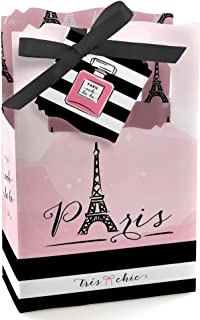 Big Dot of Happiness Paris, Ooh La La - Paris Themed Baby Shower or Birthday Party Favor Boxes - Set of 12