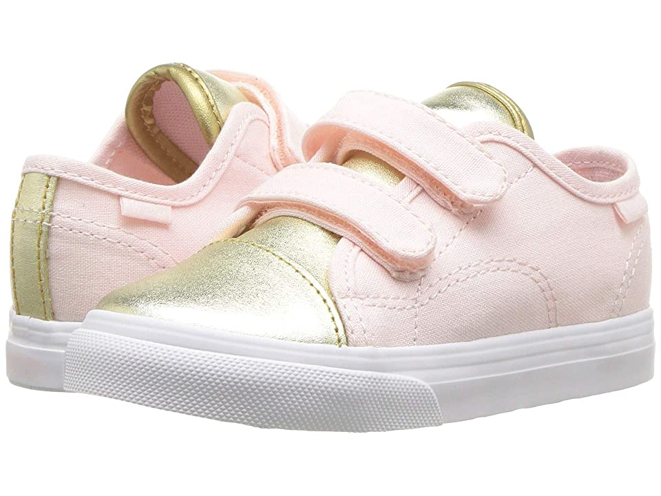 Vans Kids Style 23 V (Infant/Toddler) ((Metallic Toe) Heavenly Pink/Gold) Girls Shoes