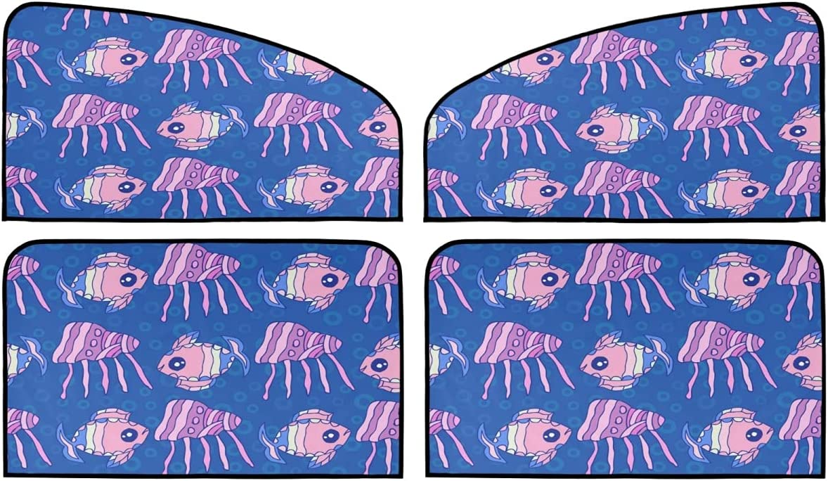 4 Piece Set Year-end annual account Magnetic Car Sunshade Coral Max 60% OFF Underwater Shell - Fish
