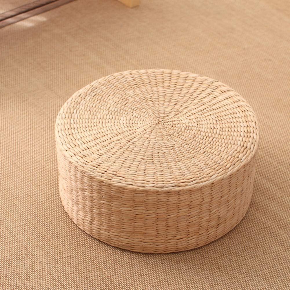ZXCC Super sale period limited Woven Straw Flat Trust Seat Cushions Floor Round Cushion Tatami