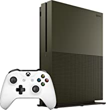 Xbox One S 1TB Military Green Special Edition Console and White Controller (Renewed)