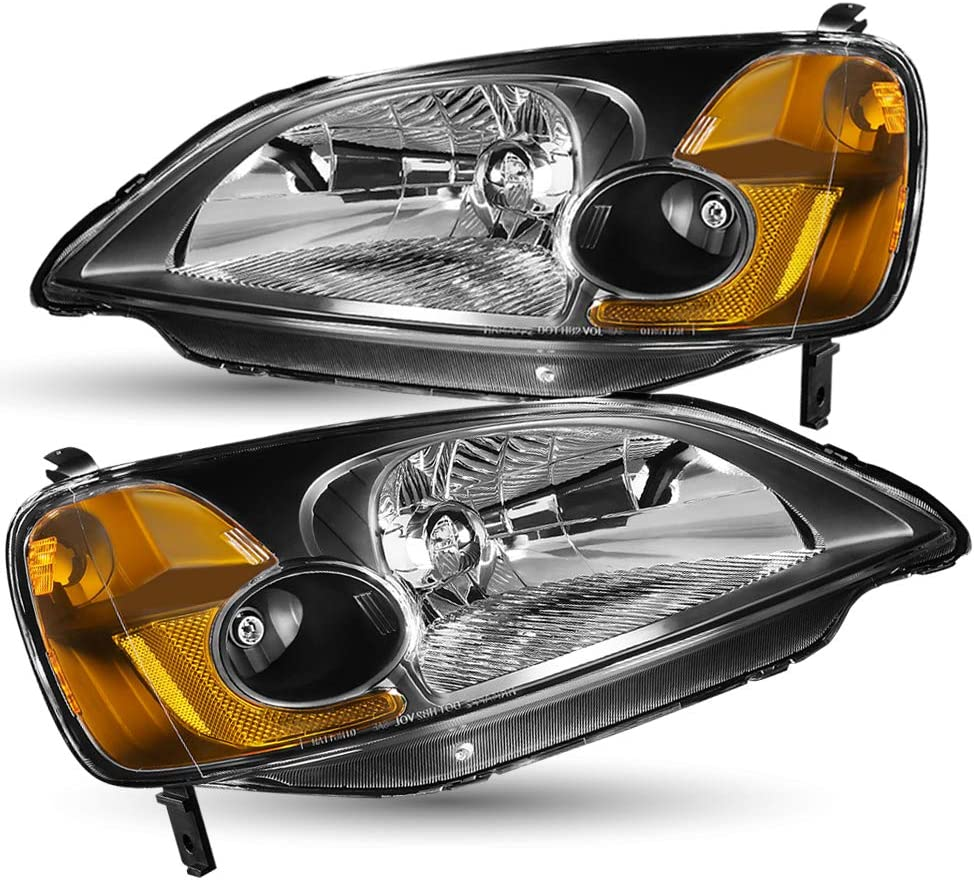 TUSDAR Large special price !! Headlight Assembly Compatible with Honda 2003 C Award 2001 2002