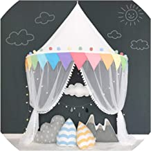 Baby Mosquito Net Bed Canopy Play Tent for Children Kids Play House Canopy Bed Curtain for Bedroom Girl Princess Decoration Room,Rainbow Tent