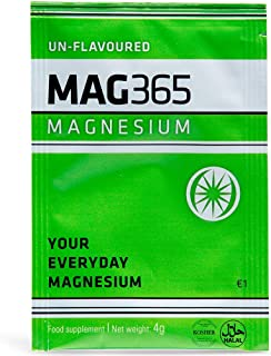 Mag365 Natural - Magnesium Citrate Un-Flavored Powder - All Natural Ingredients with No Preservatives or Additives - 24 Sa...