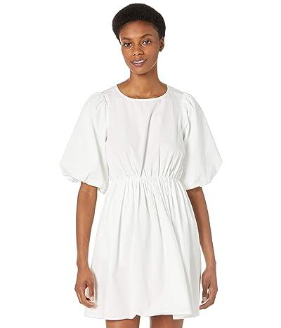 Madewell Poplin Puff Sleeve Tie-Waisted Mini Dress Women