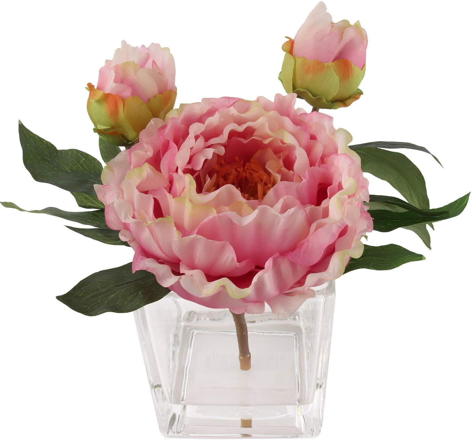 Handcrafted Artificial Tucson Mall Peony Silk latest Flower Vase Arrangement R in