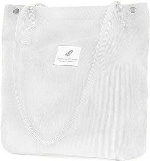 ZhengYue Damen Handtasche Groß Canvas Tasche Damen Cord Umhängetasche Henkeltasche Shopper Damen für Uni Arbeit Mädchen Sc...