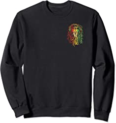 Rasta Lion 2 sided Sweatshirt