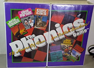 The Phonics Game -- 18 Hours of Fun For Better Reading (3 VHS Tapes, 7 Audio Cassettes, 6 Two-Deck Phonics Card Games, Sound Code Chart, Mirror, Reading Selections, Play Book, Notepad and Pen, Complete Instruction Book, Stickers, Game Plan Calendar, Comprehension Game and Audio Tape -- 1996