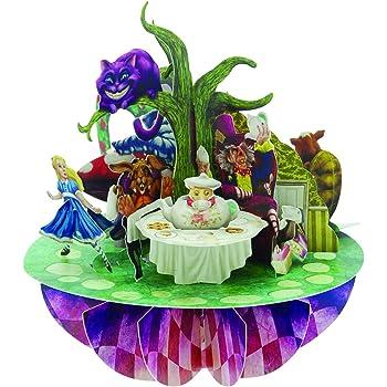 Santoro Pirouettes Alice in Wonderland 3D Pop Up Card