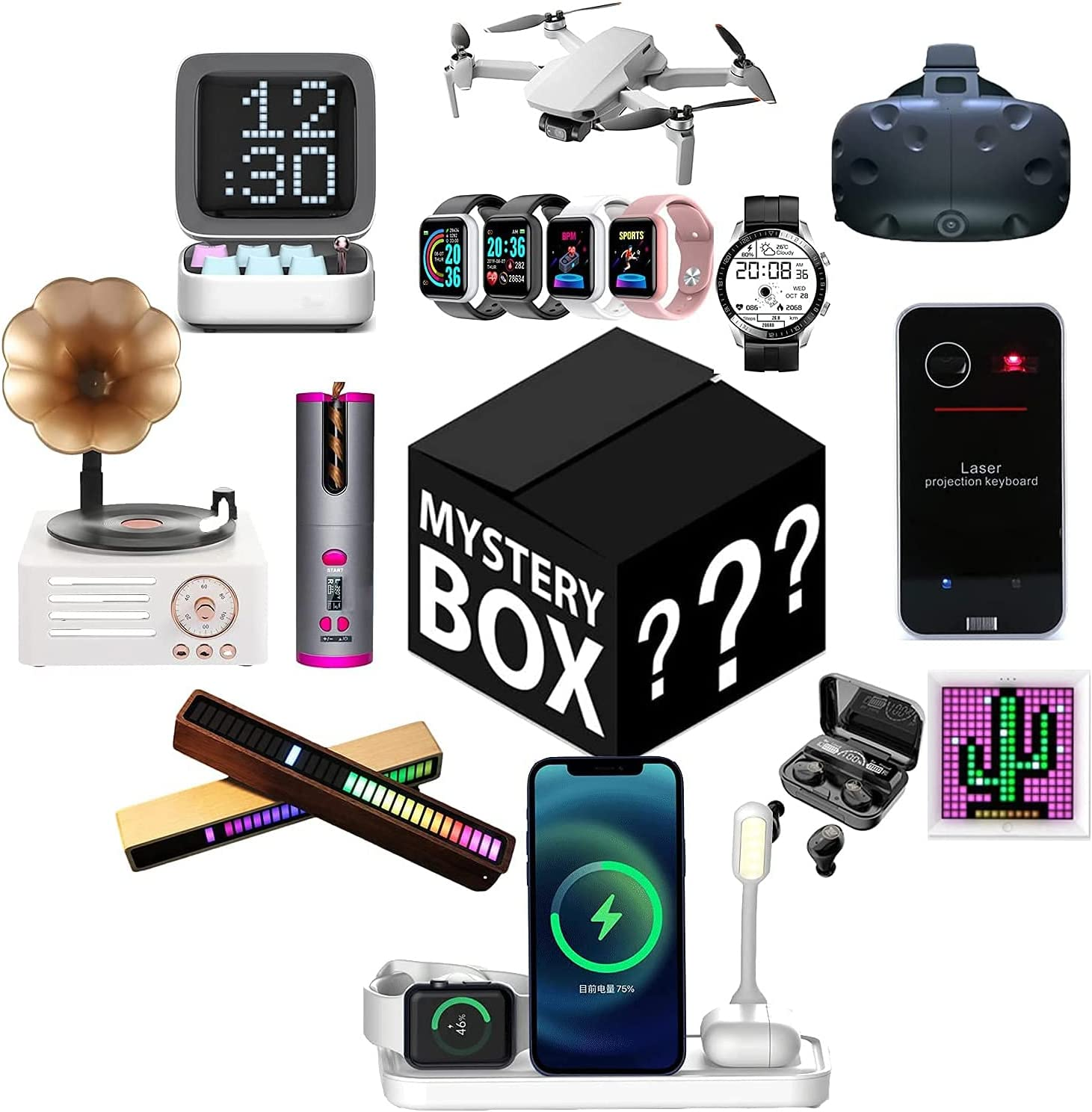 Mystery Box Electronics Boxes Birthday Random Surprise Sales of SALE items from Max 64% OFF new works