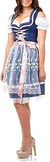 Trachtl.de Dirndl Trachtenkleid Damen Sarah IN BLAU 3.TLG