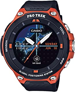 Casio Men's 'Pro Trek' Resin Outdoor Smartwatch, Color:Orange (Model: WSD-F20-RGBAU)