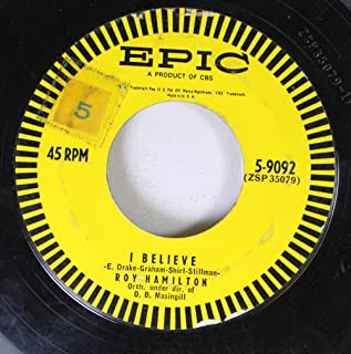 Roy Hamilton 45 RPM I Believe / If You Are But a Dream