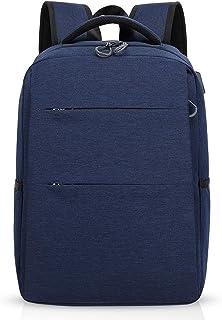 Mochila para portátiles, 15.6 Pulgadas Mochila USB Mochila de Portátil Bolso, Impermeable Bolsa Viajes para Colegio Viaje Negocios, Hombre/Mujer, Impermeable Poliéster Azul