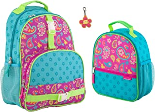 Stephen Joseph Girls Paisley Backpack and Lunch Box with Zipper Pull