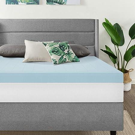 Amazon Com Best Price Mattress 4 Inch Egg Crate Memory Foam Mattress Topper With Cooling Gel Infusion Certipur Us Certified Queen Light Blue Ecmf Gm4q Furniture Decor