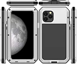iPhone 11 Pro Case, CarterLily Full Body Shockproof Dustproof Waterproof Aluminum Alloy Metal Gorilla Glass Cover Case for Apple iPhone 11 Pro 5.8 inch (White)
