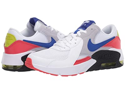 Nike Kids Air Max Excee (Big Kid) (White/Hyper Blue/Bright Cactus/Track Red) Kid