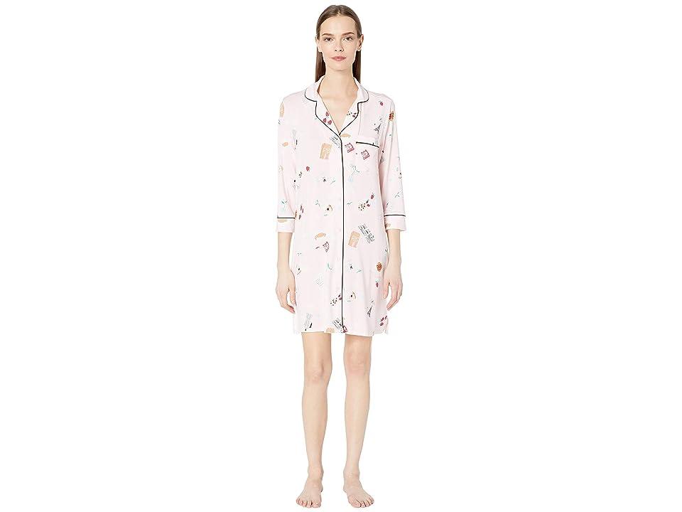Kate Spade New York Jersey Knit Sleepshirt (Parisian Breakfast) Women