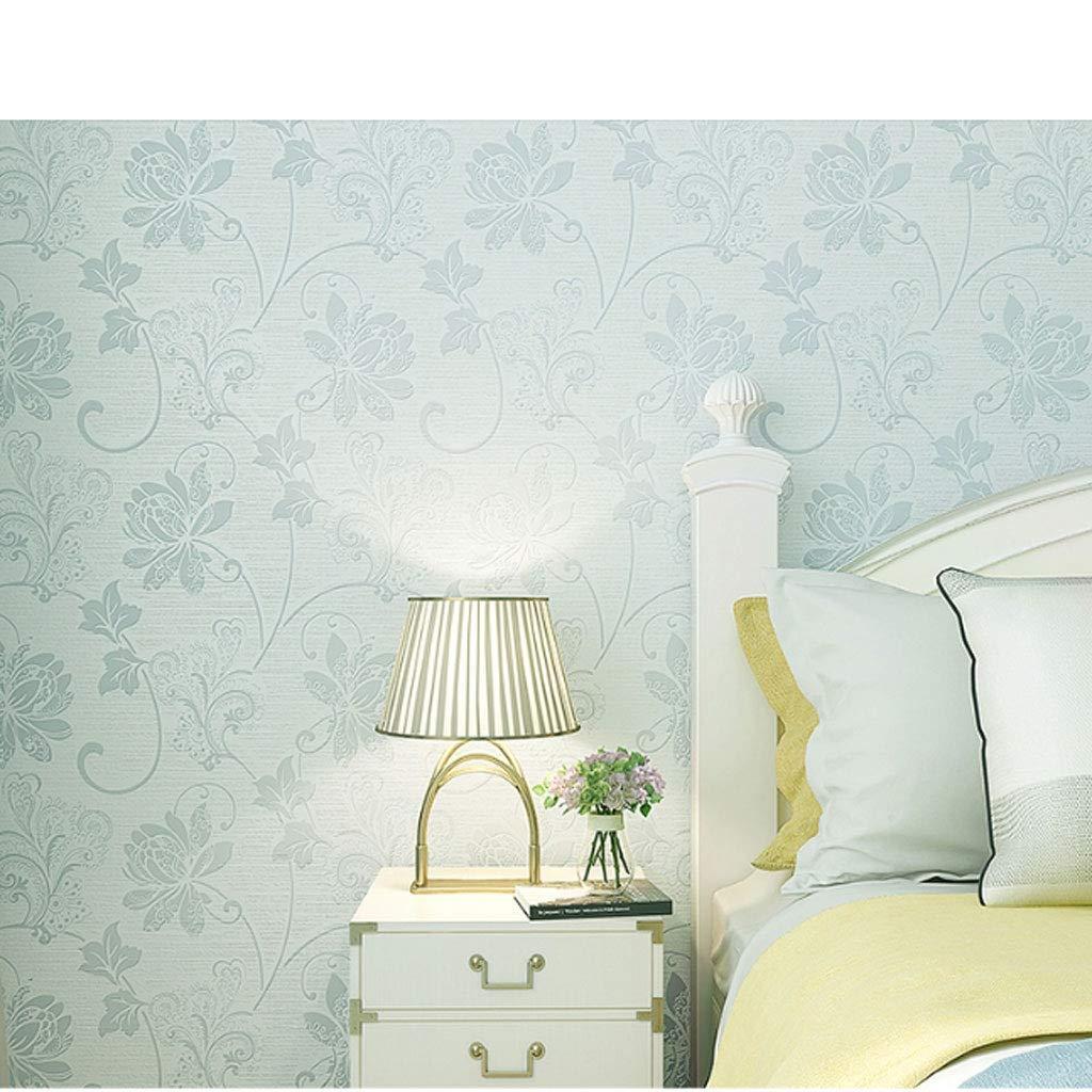 LQW HOME Paño de la Pared Papel Tapiz Dormitorio Azul Rosa Blanco Sala de Estar TV Fondo de Pared Altura de Montaje 2.8 Metros (Color : Green): Amazon.es: Hogar