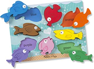 Melissa & Doug Colorful Fish Wooden Chunky Puzzle (8 Pieces), Great Gift for Girls and Boys – Best for 2, 3, and 4 Year Olds