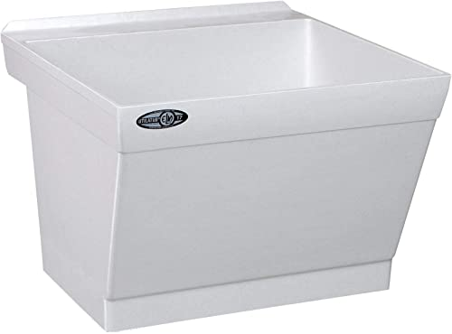 wholesale Mustee 17W Utilatub Laundry Tub new arrival Wall Mount, 23.5-Inch x popular 23-Inch, White sale