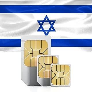 Israel Prepaid 1GB Data Sim Card Standard Micro Nano 30 Days 3G LTE