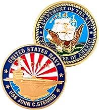 CVN74 USS John C. Stennis Challenge Coin Navy Badge N013J- Nimitz-Class Nuclear-Powered Supercarrier